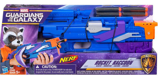 Marvel Guardians of the Galaxy Nerf Rocket Raccoon Roleplay Toy