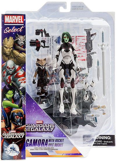 Guardians of the Galaxy Marvel Select Gamora with Rocket Exclusive Action Figure