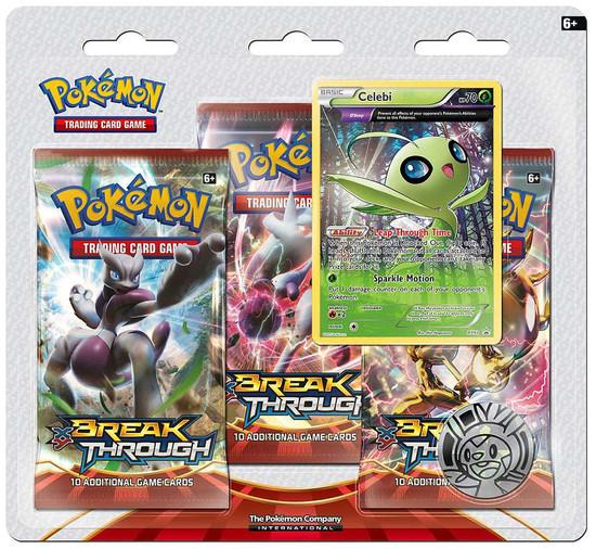 Pokemon Trading Card Game XY BREAKthrough Celebi Special Edition [3 Booster Packs, Promo Card & Coin]