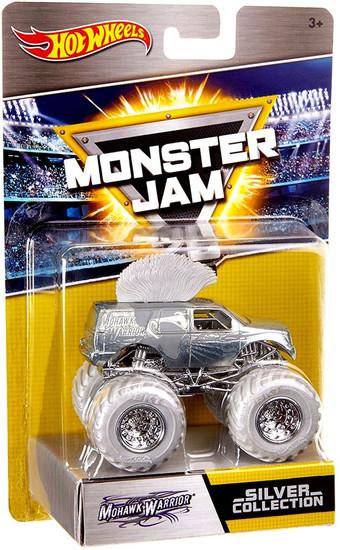 Hot Wheels Monster Jam 25 Silver Collection Mohawk Warrior Die-Cast Car