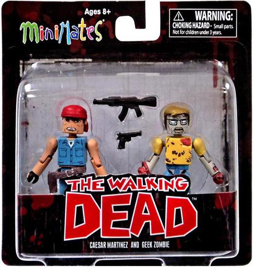 The Walking Dead Minimates Series 5 Caesar Martinez & Geek Zombie Minifigure 2-Pack