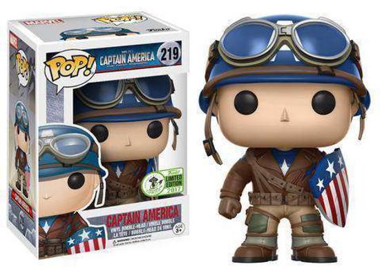 Funko Captain America The First Avenger POP! Marvel Captain America Exclusive Vinyl Bobble Head #219 [WWII]
