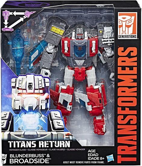 Transformers Generations Titans Return Broadside & Blunderbuss Voyager Action Figure