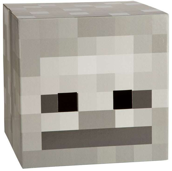 Minecraft Skeleton Cardboard Head