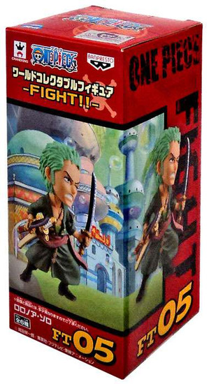 One Piece WCF Fight Roronoa Zoro 2.5-Inch Collectible Figure FT05