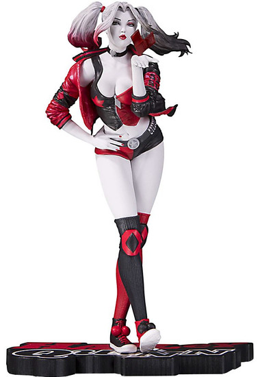 Batman Harley Quinn Red, White & Black Harley Quinn Statue [Stanley Lau, Version 1]