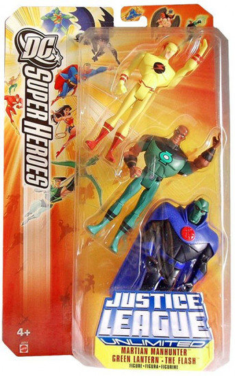 DC Universe Justice League Unlimited Justice Lords Martian Manhunter, Green Lantern & Flash Action Figure 3-Pack