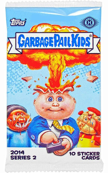 Garbage Pail Kids Topps 2014 Series 2 Trading Card Sticker HOBBY Pack [10 Cards]