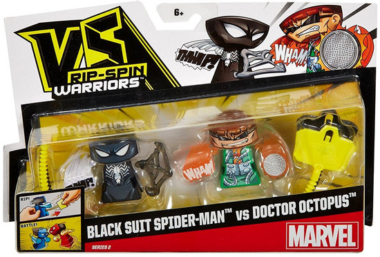 VS Rip-Spin Warriors Marvel Series 2 Black Suit Spider-Man vs Doctor Octopus Mini Figure 2-Pack