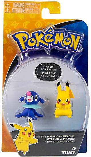 Pokemon Action Pose Popplio & Pikachu 3-Inch Mini Figure