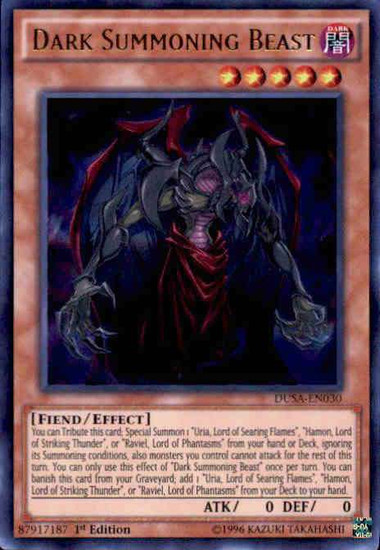 YuGiOh Duelist Saga Ultra Rare Dark Summoning Beast DUSA-EN030