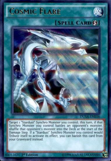 YuGiOh Duelist Saga Ultra Rare Cosmic Flare DUSA-EN036