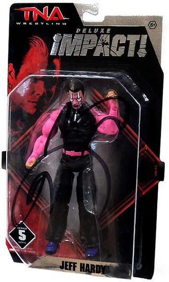 TNA Wrestling Jeff Hardy Action Figure [Pink Face Signed by Jeff Hardy]