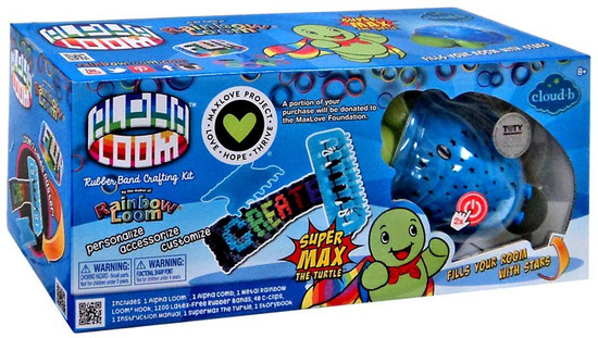 Rainbow Loom Alpha Loom with Super Max the Turtle Rubber Band Crafting Kit