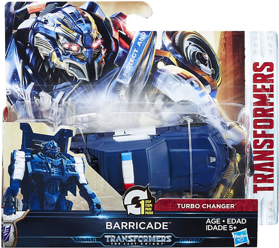 Transformers The Last Knight 1 Step Turbo Changer Barricade Action Figure [Mars]
