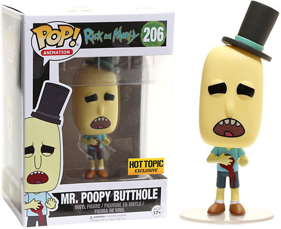Funko Rick & Morty POP! Animation Mr. Poopy Butthole Exclusive Vinyl Figure #206 [Gunshot Wound]