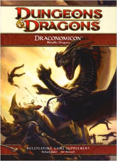 Dungeons & Dragons D&D 4th Edition Draconomicon Metallic Dragons