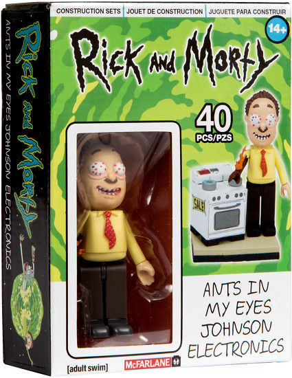 McFarlane Toys Rick & Morty Ants in My Eyes Johnson's Electronics Micro Construction Set