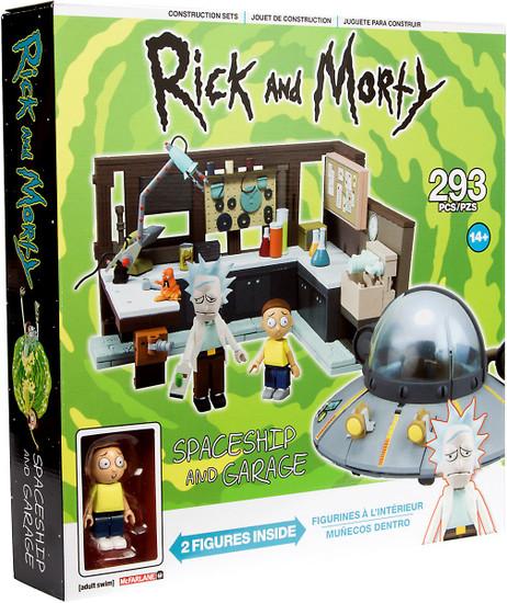 McFarlane Toys Rick & Morty Spaceship & Garage Large Construction Set