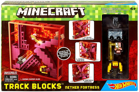 Hot Wheels Minecraft Nether Fortress Track Blocks Set