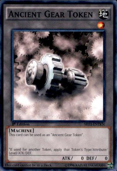 YuGiOh Machine Reactor Structure Deck Common Ancient Gear Token SR03-ENTKN