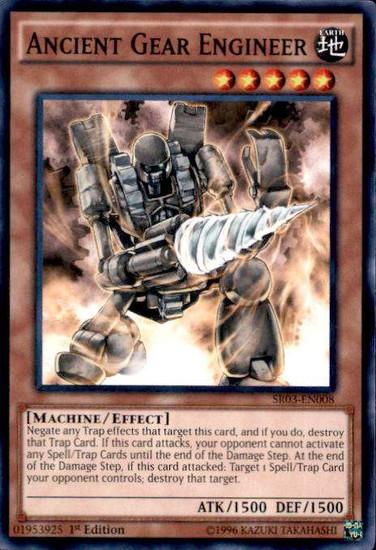 YuGiOh Machine Reactor Structure Deck Common Ancient Gear Engineer SR03-EN008