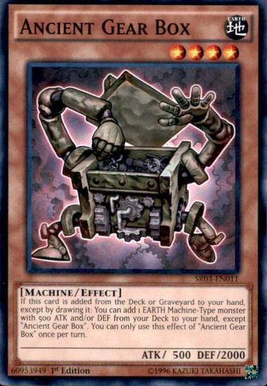 YuGiOh Machine Reactor Structure Deck Common Ancient Gear Box SR03-EN011