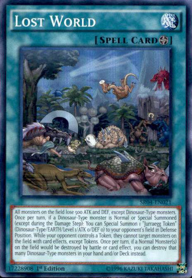 YuGiOh Dinosmasher's Fury Structure Deck Super Rare Lost World SR04-EN021