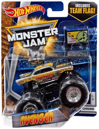 Hot Wheels Monster Jam 25 Avenger Die-Cast Car #4/7 [Chrome]
