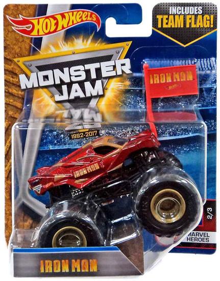 Hot Wheels Monster Jam 25 Iron Man Die-Cast Car #2/3 [Marvel Heroes]