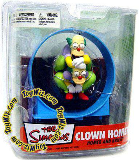 McFarlane Toys The Simpsons Series 2 Clown Homer Action Figure Set [Damaged Package]