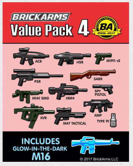 BrickArms Value Pack 4 2.5-Inch Weapons Pack