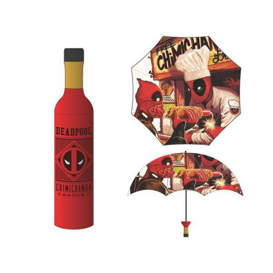 Marvel Deadpool Chimichanga Bottle Umbrella Apparel