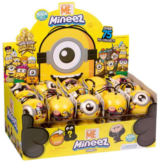 Minions Mineez Series 1 Despicable Me 3 Mystery Capsule Box [30 Packs]