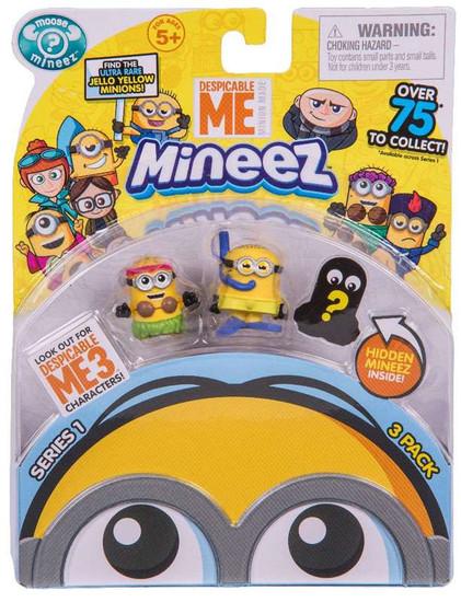 Despicable Me Minions Mineez Series 1 Snorkeling Minion & Luao Jerry Mini Figure 3-Pack