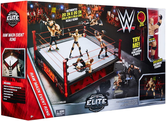 WWE Wrestling Raw Main Event Elite Scale Ring [Goldberg Action Figure]