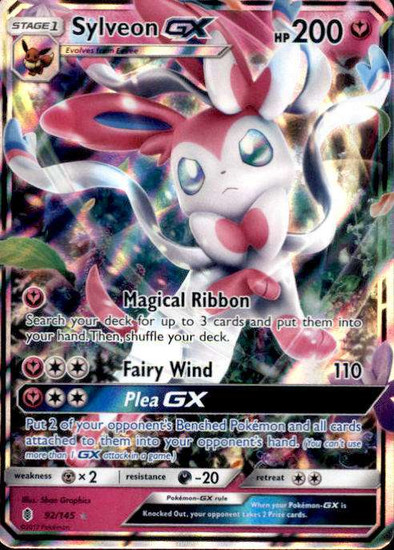 Pokemon Sun & Moon Guardians Rising Ultra Rare Sylveon GX #92