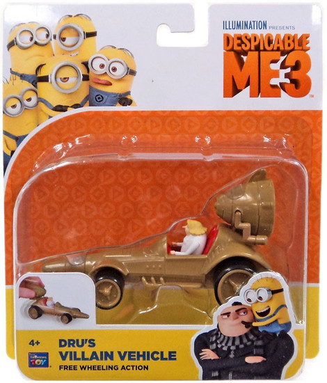 Despicable Me 3 Dru's Villain Vehicle Vehicle [Free Wheeling Action]