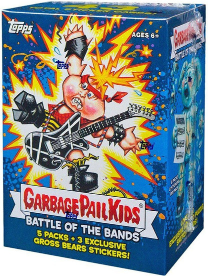 Garbage Pail Kids Topps 2017 Series 2 Battle of the Bands Trading Card Sticker BLASTER Box [5 Packs + 3 Exclusive Gross Bear Stickers]