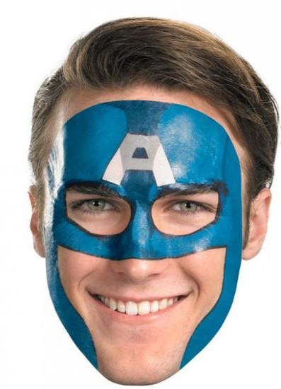 Costumes Captain America Face Tattoo #11624