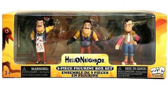 Hello Neighbor 3-Inch Mini Figure 3-Pack