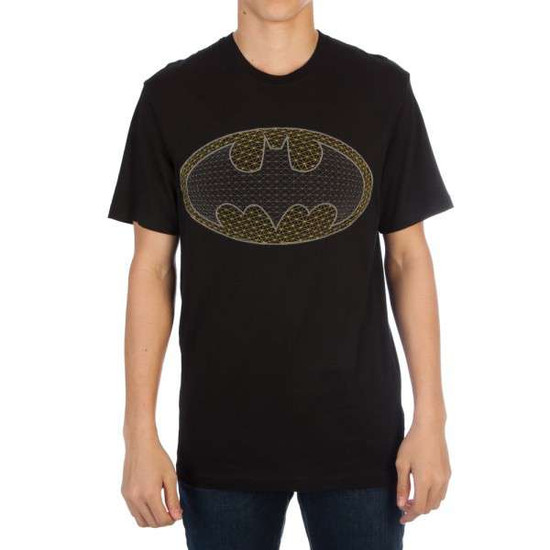 DC Batman Logo Embroidered Mens Tee Shirt Apparel [Extra Large]