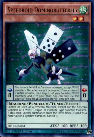 YuGiOh Duelist Pack: Dimensional Guardians Ultra Rare Speedroid Dominobutterfly DPDG-EN004