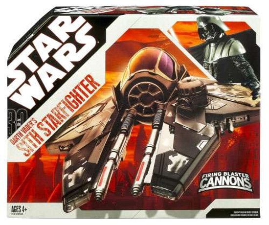 Star Wars Revenge of the Sith 2007 30th Anniversary Darth Vader's Sith Starfighter Action Figure Vehicle