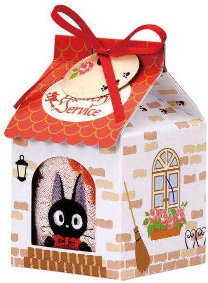 Studio Ghibli Kiki's Delivery Service Jiji Mini Towel in House Care Box
