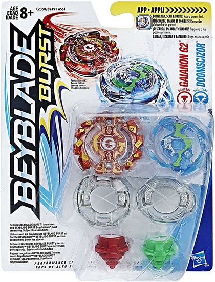 Beyblade Burst Gaianon G2 & Doomscizor Dual Pack