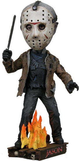 NECA Friday the 13th Head Knockers Jason Voorhees 7-Inch Bobble Figure #39771 [Re-Issue]