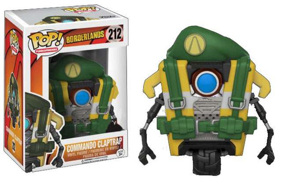 Funko Borderlands POP! Games Commando Claptrap Exclusive Vinyl Figure #212