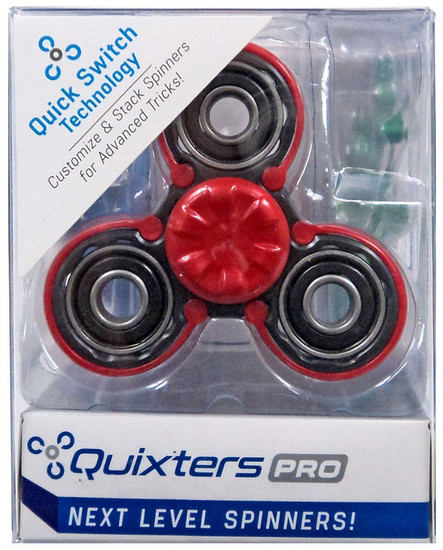 Quixters Black Pro Spinner [Red Outside]