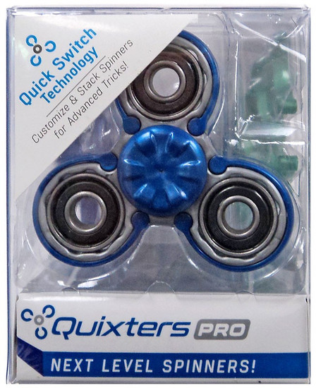 Quixters Gray Pro Spinner [Blue Outside]